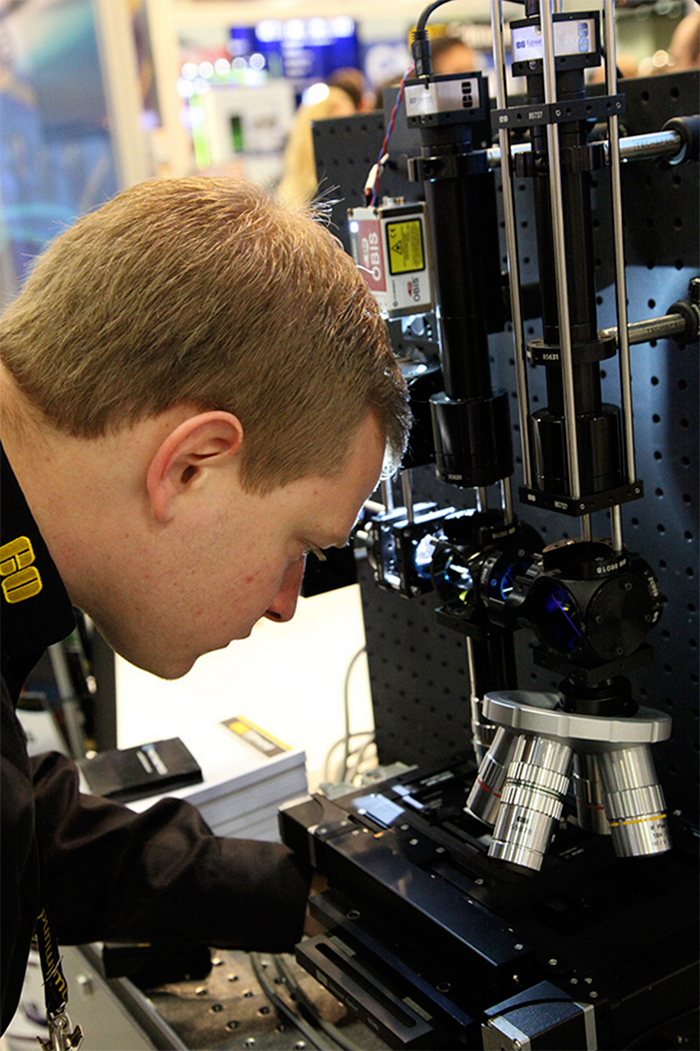 Stephan Briggs examines the Fluorescence Microscope